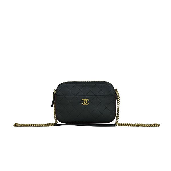 Chanel(샤넬) A57575Y83828 블랙 카프스킨 금장 로고 카메라 케이스 크로스백 [동대문점]