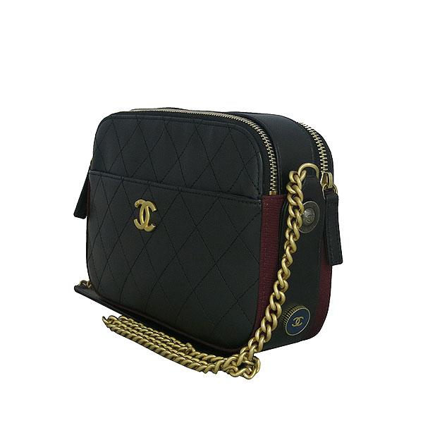 Chanel(샤넬) A57575Y83828 블랙 카프스킨 금장 로고 카메라 케이스 크로스백 [동대문점] 이미지2 - 고이비토 중고명품