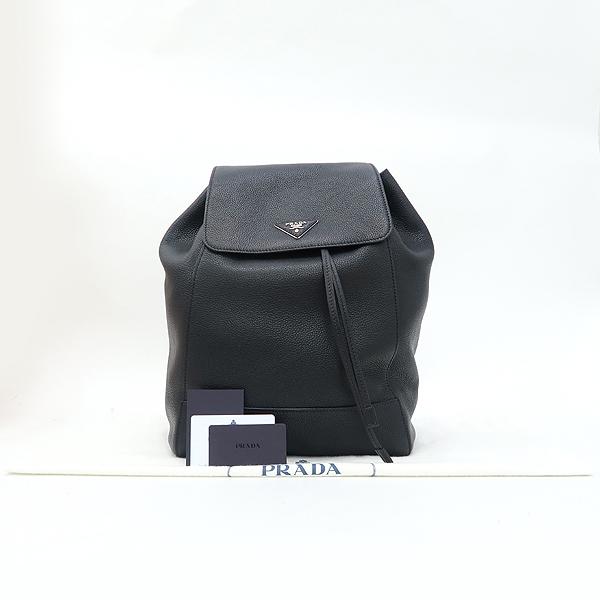 Prada(프라다) 1BZ007 은장 로고 블랙 VIT.DAINO(비텔로다이노) 백팩 [강남본점]