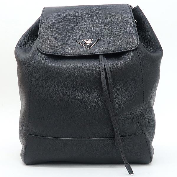 Prada(프라다) 1BZ007 은장 로고 블랙 VIT.DAINO(비텔로다이노) 백팩 [강남본점] 이미지2 - 고이비토 중고명품