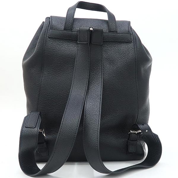 Prada(프라다) 1BZ007 은장 로고 블랙 VIT.DAINO(비텔로다이노) 백팩 [강남본점] 이미지4 - 고이비토 중고명품