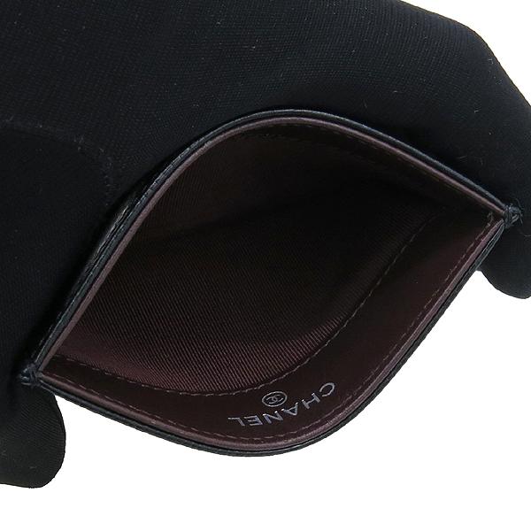 Chanel(샤넬) A31510 캐비어 스킨 블랙 COCO 은장 로고 마트라쎄 카드지갑 [강남본점] 이미지3 - 고이비토 중고명품