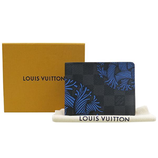 Louis Vuitton(루이비통) N41679 다미에 그라피트 로프 패턴 캔버스 슬렌더 반지갑 [강남본점]