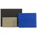 BOTTEGAVENETA (보테가베네타) 162150 블루 레더 인트레치아토 카드 겸 명함지갑 [강남본점]