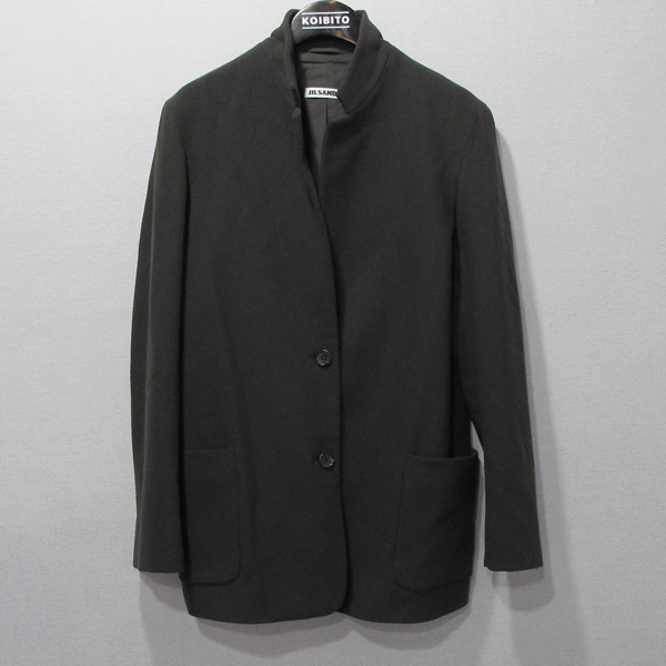 Jilsander(질샌더) 카키브라운 컬러 2버튼 여성용 모 자켓 [대구반월당본점]