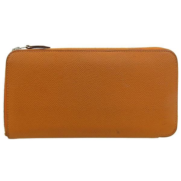 Hermes(에르메스) 아잡(AZAPA) 오렌지 컬러 올 레더 집업 장지갑 [강남본점] 이미지2 - 고이비토 중고명품