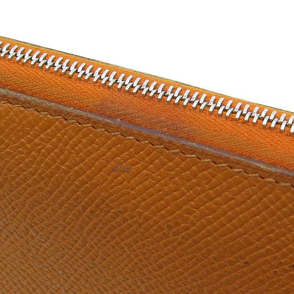 Hermes(에르메스) 아잡(AZAPA) 오렌지 컬러 올 레더 집업 장지갑 [강남본점] 이미지3 - 고이비토 중고명품