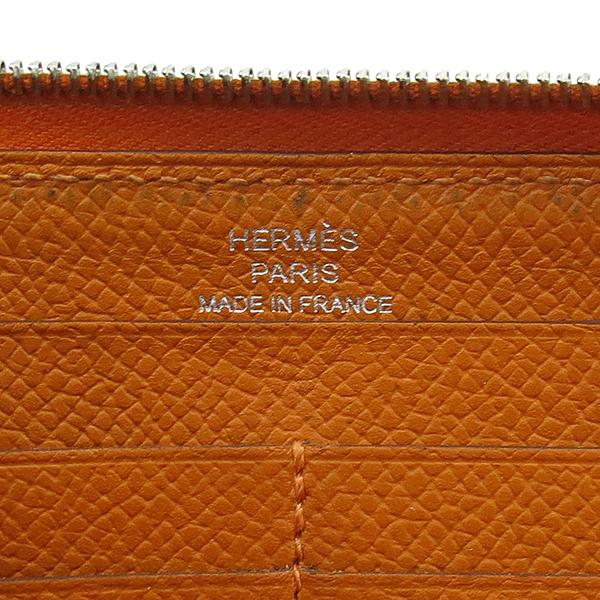 Hermes(에르메스) 아잡(AZAPA) 오렌지 컬러 올 레더 집업 장지갑 [강남본점] 이미지5 - 고이비토 중고명품