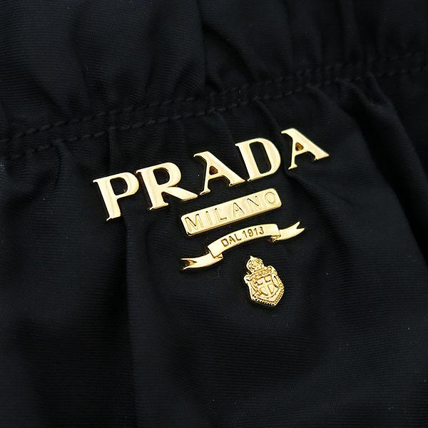 Prada(프라다) BN1336 TESSUTO GAUFRE NERO 블랙 패브릭 고프레 금장로고 토트백 + 숄더스트랩 2WAY [부산센텀본점] 이미지3 - 고이비토 중고명품