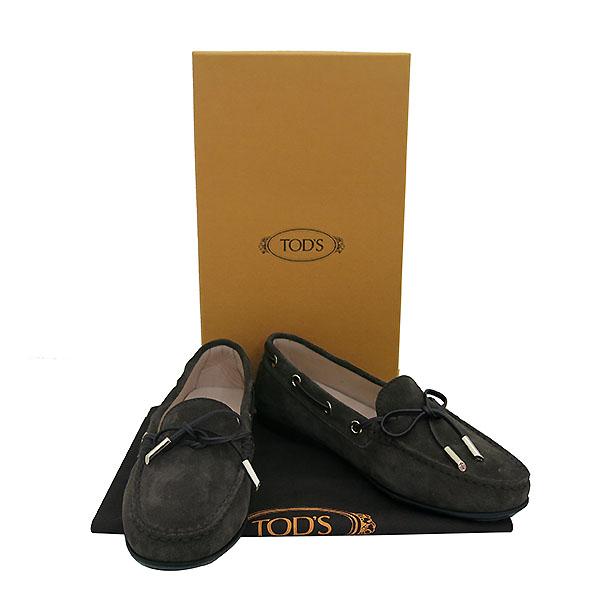 Tod's(토즈 ) 18 F/W GOMMA LU 브라운 컬러 스웨이드 드라이빙 슈즈 [부산센텀본점]