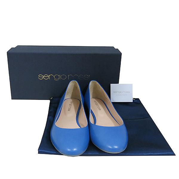 SERGIO ROSSI (세르지오 로시) 블루 컬러 여성용 플랫 슈즈 [대구동성로점]