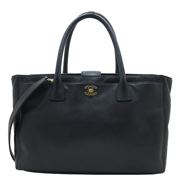 Chanel(샤넬) A15206Y01570 카프스킨 캐비어 블랙 금장 COCO로고 서프 토트백 + 숄더스트랩 2WAY [인천점]