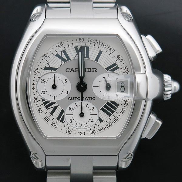Cartier(까르띠에) W62020X6 ROADSTER (로드스터) 크로노그래프 스틸 남성용 오토매틱 시계 [인천점]