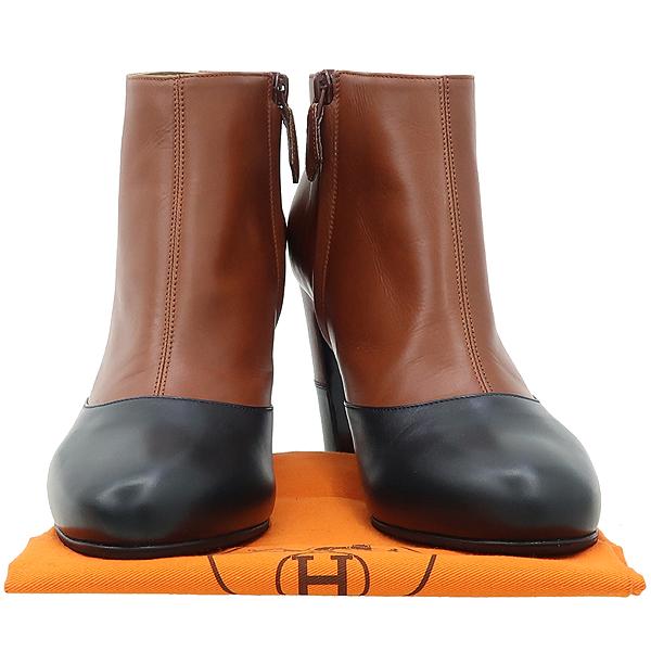 Hermes(에르메스) 블랙 브라운 투톤 레더 여성용 앵클 부츠 [대구동성로점]