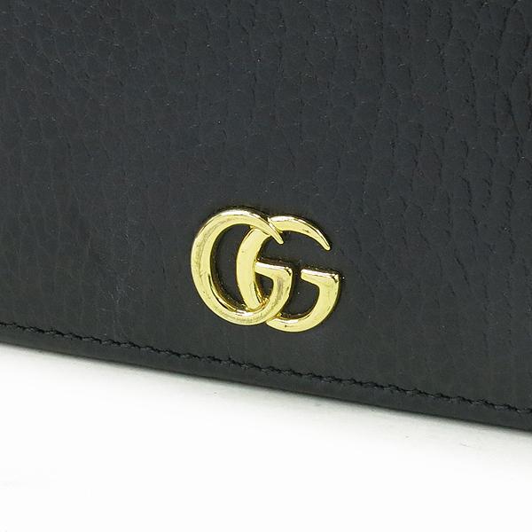 Gucci(구찌) 497985 마몬트 로고 장식 블랙 레더 체인 크로스백 [강남본점] 이미지3 - 고이비토 중고명품
