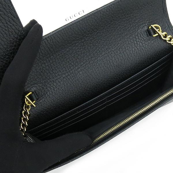 Gucci(구찌) 497985 마몬트 로고 장식 블랙 레더 체인 크로스백 [강남본점] 이미지4 - 고이비토 중고명품