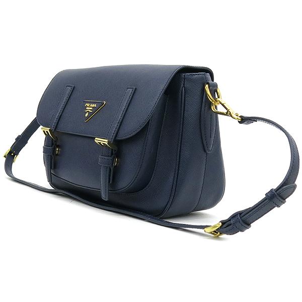 Prada(프라다) 블루 컬러 사피아노 삼각 로고 사첼 크로스백 [강남본점] 이미지2 - 고이비토 중고명품
