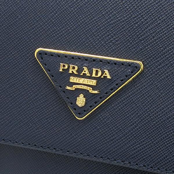 Prada(프라다) 블루 컬러 사피아노 삼각 로고 사첼 크로스백 [강남본점] 이미지3 - 고이비토 중고명품