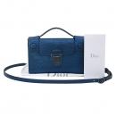Dior(크리스챤디올) M7005BLDO DIOREVER(디올에버) 블루 도마뱀 가죽 미니 토트백 겸 클러치 + 숄더 스트랩 3WAY [부산센텀본점]
