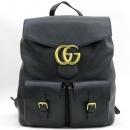 Gucci(구찌) 429007 마몬트 로고 장식 블랙 레더 투포켓 백팩 [강남본점]
