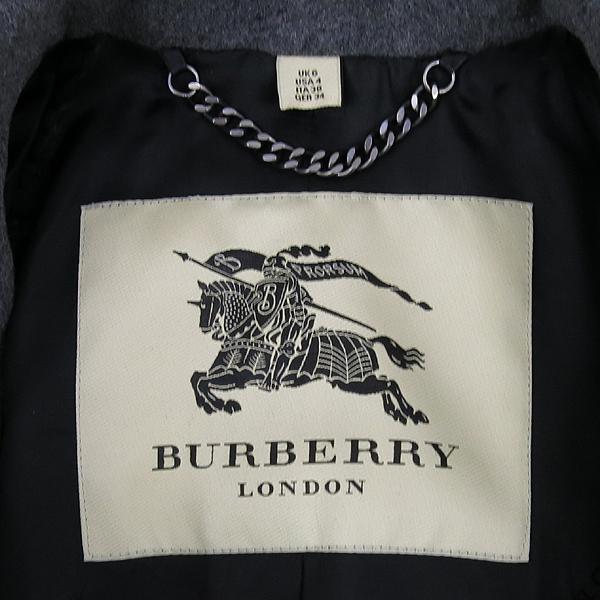 Burberry(버버리) 3993441 런던 그레이 컬러 캐시미어 혼방 견장 장식 여성용 코트 [강남본점] 이미지4 - 고이비토 중고명품