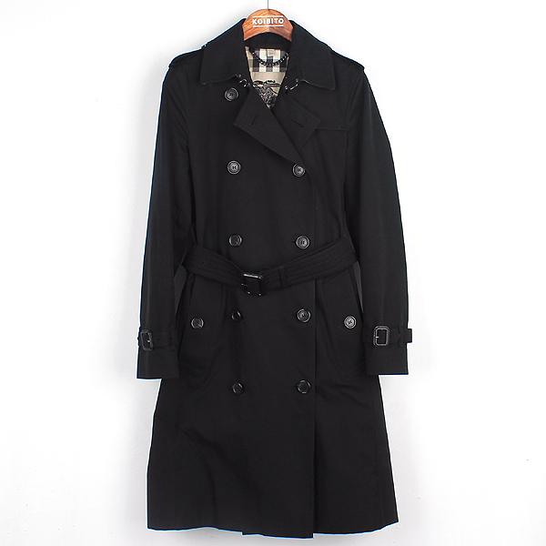 Burberry(버버리) 3900456 KENSINGTON 켄싱턴 블랙 컬러 트렌치 코트 + 벨트포함 [강남본점]