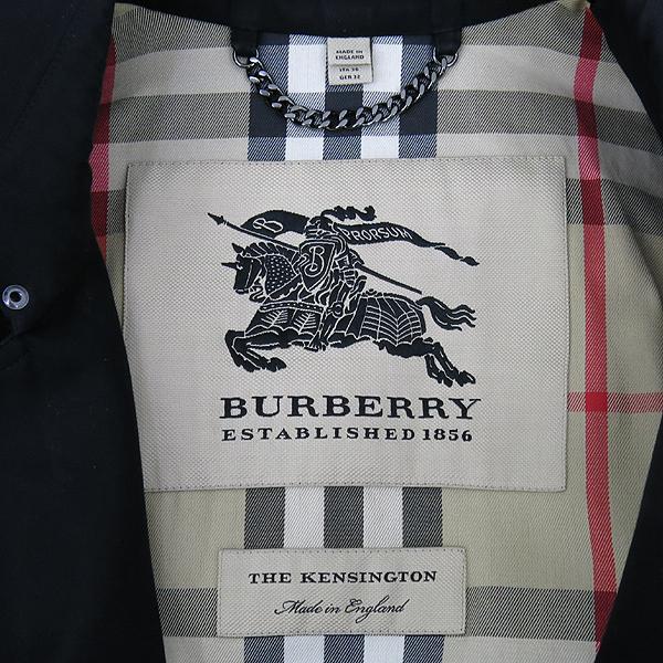 Burberry(버버리) 3900456 KENSINGTON 켄싱턴 블랙 컬러 트렌치 코트 + 벨트포함 [강남본점] 이미지4 - 고이비토 중고명품