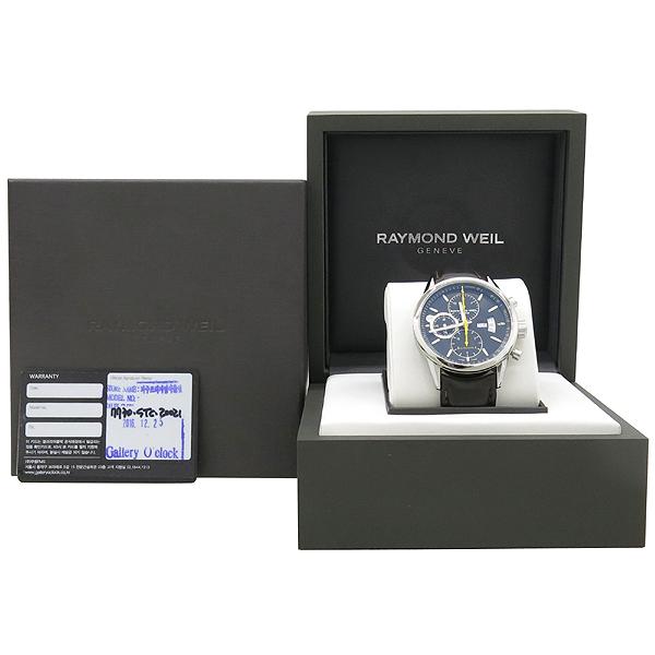 RAYMOND WEIL(레이몬드웨일) 7730.STC.20021 크로노그래프 오토매틱 가죽밴드 남성용 시계 [강남본점]