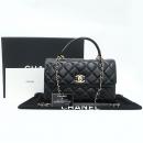 Chanel(샤넬) A92237 블랙 컬러 램스킨 클래식 COCO 금장로고 트렌디 CC Large 탑핸들 2WAY [강남본점]