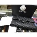 Chanel(샤넬) AS7650 최신상 캐비어스킨 클래식 은장로고 체인 플랩 클러치백 w