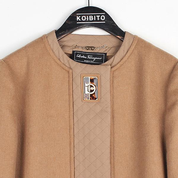 Ferragamo(페라가모) 울 카멜 컬러 여성용 롱 코트 [대전본점] 이미지2 - 고이비토 중고명품