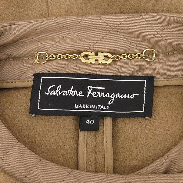 Ferragamo(페라가모) 울 카멜 컬러 여성용 롱 코트 [대전본점] 이미지4 - 고이비토 중고명품