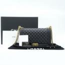 Chanel(샤넬) A92193Y07659 램스킨 블랙 보이샤넬 M사이즈 금장로고 체인 숄더백 [강남본점]
