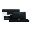 Chanel(샤넬) A80285Y04059 금장 보이 샤넬 블랙 램스킨 장지갑 [부산센텀본점]