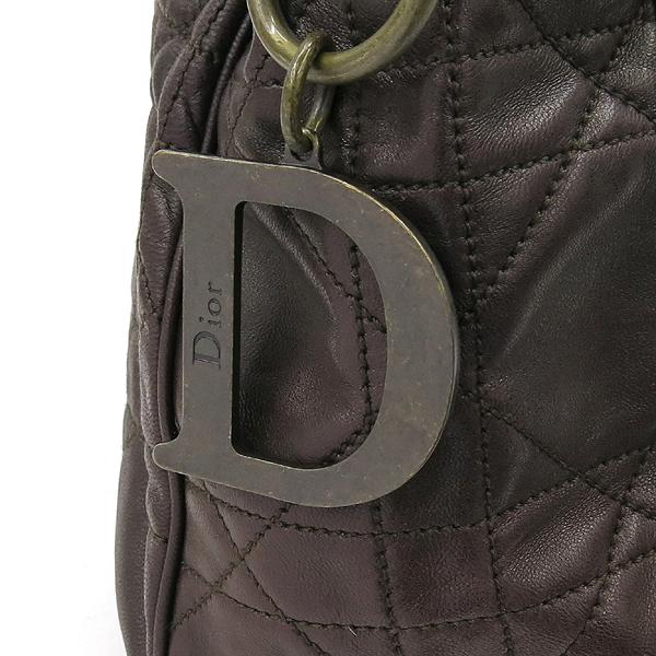 Dior(크리스챤디올) 07-MA-0096 브라운 레더 까나쥬 숄더백 [강남본점] 이미지4 - 고이비토 중고명품