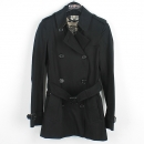 Burberry(버버리) 3897367 블랙 100% 면 프로섬 라인 여성용 트렌치 코트 + 벨트 SETTL [강남본점]
