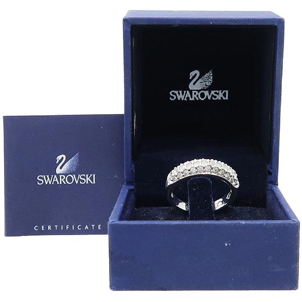 Swarovski(스와로브스키) 화이트로듐 플레팅 Stone Signet 링 반지 - 15호 [강남본점]