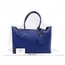 Prada(프라다) BR5071 블루 컬러 SAFFIANO CUIR 사피아노 금장 로고 장식 빅 사이즈 토트백 [강남본점]