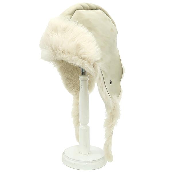 Helen Kaminski (헬렌 카민스키) 아이보리 컬러 스웨이드 SHEEP SKIN 양털 퍼 에스키모 모자 [강남본점]