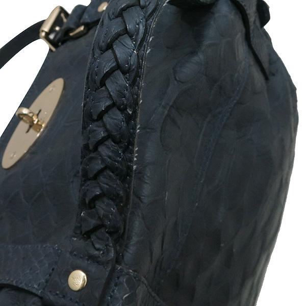 MULBERRY(멀버리) 금장 로고 장식 크로커다일 패턴 네이비 레더 알렉사 2WAY [대전본점] 이미지3 - 고이비토 중고명품