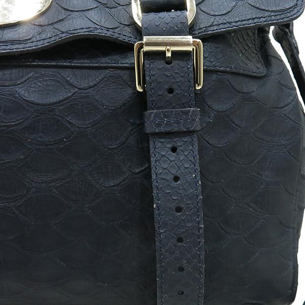 MULBERRY(멀버리) 금장 로고 장식 크로커다일 패턴 네이비 레더 알렉사 2WAY [대전본점] 이미지4 - 고이비토 중고명품