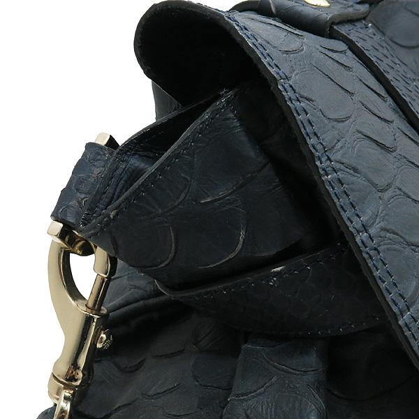 MULBERRY(멀버리) 금장 로고 장식 크로커다일 패턴 네이비 레더 알렉사 2WAY [대전본점] 이미지5 - 고이비토 중고명품