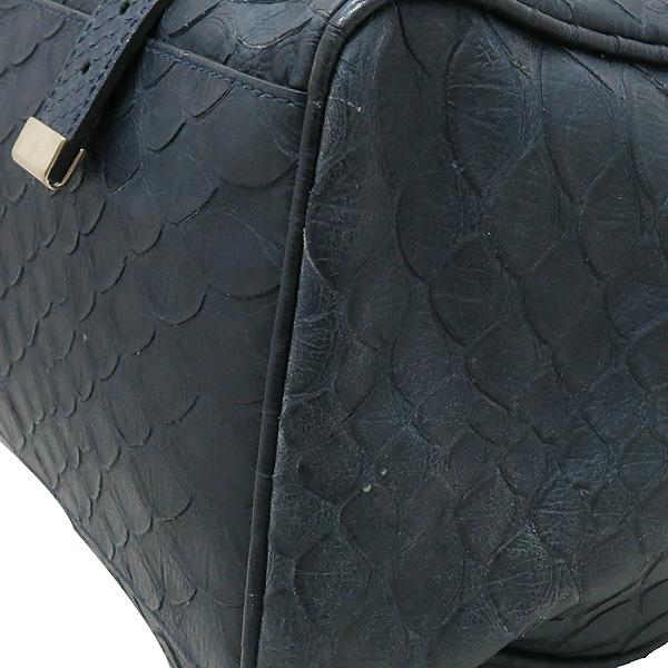 MULBERRY(멀버리) 금장 로고 장식 크로커다일 패턴 네이비 레더 알렉사 2WAY [대전본점] 이미지6 - 고이비토 중고명품