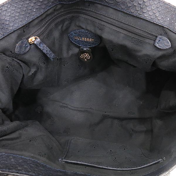 MULBERRY(멀버리) 금장 로고 장식 크로커다일 패턴 네이비 레더 알렉사 2WAY [대전본점] 이미지7 - 고이비토 중고명품