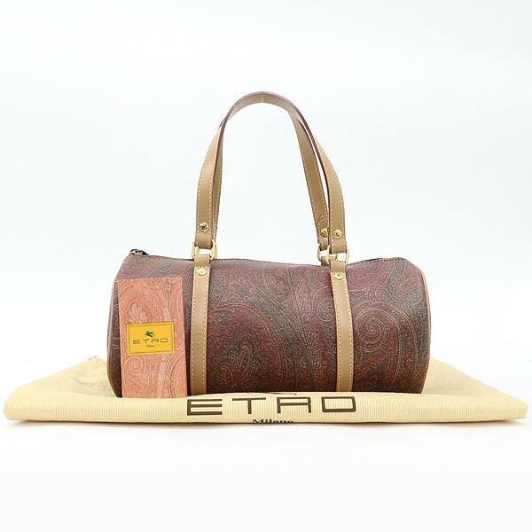 Etro(에트로) 페이즐리 PVC 레더 혼방 실린더 원통 토트백 [강남본점]