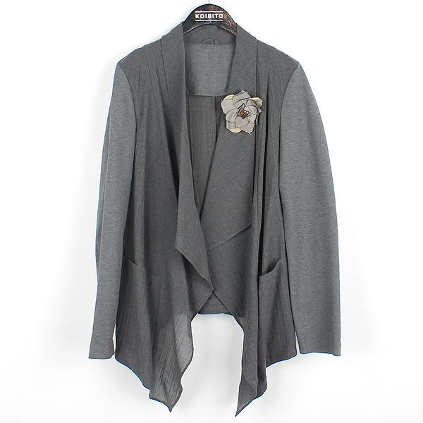 BRUNELLO CUCINELLI (부르넬로 쿠치넬리) 그레이 컬러 코사지 장식 여성용 자켓 [강남본점]