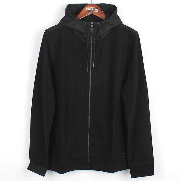 Hugo Boss(휴고보스) 블랙 컬러 니트 혼방 후드 짚업 자켓 [강남본점]