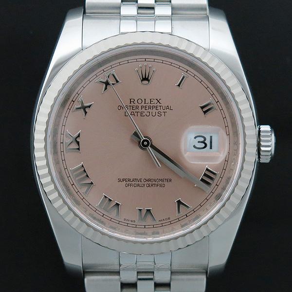 Rolex(로렉스) 116234 DATE JUST 데이트저스트 핑크 다이얼 로마인덱스 스틸 쥬빌레 브레이슬릿 남성용시계 [인천점] 이미지2 - 고이비토 중고명품