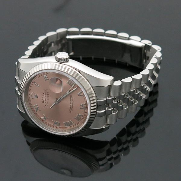Rolex(로렉스) 116234 DATE JUST 데이트저스트 핑크 다이얼 로마인덱스 스틸 쥬빌레 브레이슬릿 남성용시계 [인천점] 이미지3 - 고이비토 중고명품