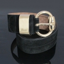 Gucci(구찌) 181465 블랙 스웨이드 금장 버클 와이드 여성용 벨트 [동대문점]